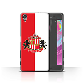 Sunderland AFC Case/Cover for Sony Xperia X Performance/Red/White Design/SAFC Football Club Crest Mobile phones