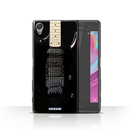 STUFF4 Case/Cover for Sony Xperia X Performance / Black Electirc Design / Guitar Collection Mobile phones