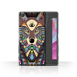 STUFF4 Case/Cover for Sony Xperia X Performance/Wolf-Colour Design/Aztec Animal Mobile phones