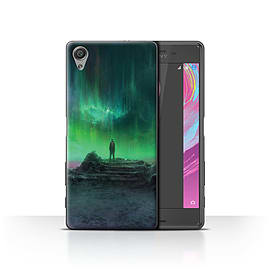 Official Chris Cold Case/Cover for Sony Xperia X Performance/Aurora Design/Alien World Cosmos Mobile phones