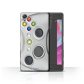 STUFF4 Case/Cover for Sony Xperia X / White Xbox 360 Design / Games Console Collection Mobile phones
