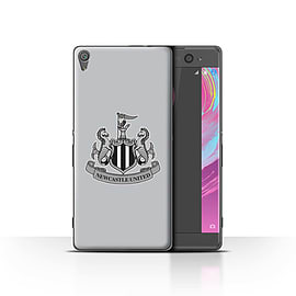 Official Newcastle United FC Case/Cover for Sony Xperia XA/Mono/Grey Design/NUFC Football Crest Mobile phones