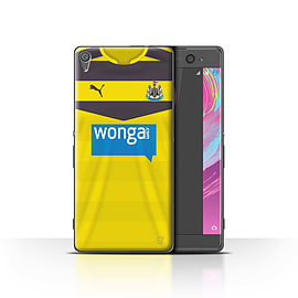 Newcastle United FC Case/Cover for Sony Xperia XA/Goalkeeper Design/NUFC Home Shirt/Kit 15/16 Mobile phones