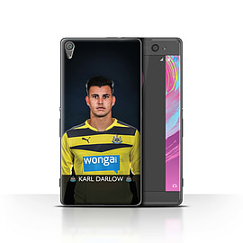 Official Newcastle United FC Case/Cover for Sony Xperia XA/Darlow Design/NUFC Football Player 15/16 Mobile phones