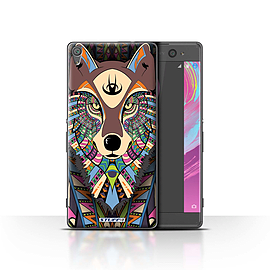 STUFF4 Case/Cover for Sony Xperia XA / Wolf-Colour Design / Aztec Animal Design Collection Mobile phones