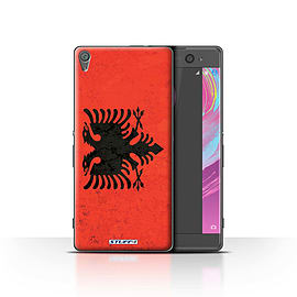 STUFF4 Case/Cover for Sony Xperia XA / Albania/Albanian Design / Flags Collection Mobile phones