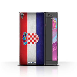 STUFF4 Case/Cover for Sony Xperia XA / Croatia/Croatian Design / Flags Collection Mobile phones