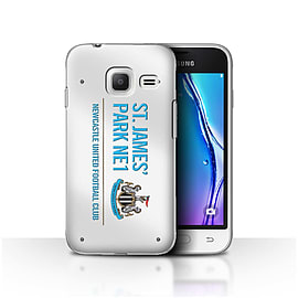 Newcastle United FC Case/Cover for Samsung Galaxy J1 Nxt/Mini/White/Blue Design/St James Park Sign Mobile phones