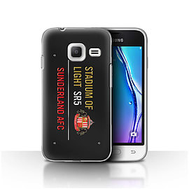 Official SAFC Case/Cover for Samsung Galaxy J1 Nxt/Mini/Black/Gold Design/SAFC Stadium of Light Sign Mobile phones