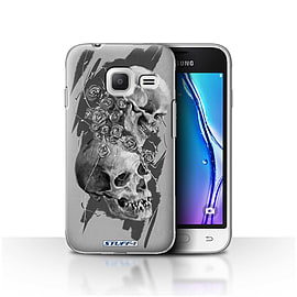 STUFF4 Case/Cover for Samsung Galaxy J1 Nxt/Mini / Thorns Design / Skull Art Sketch Collection Mobile phones