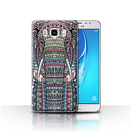 STUFF4 Case/Cover for Samsung Galaxy J5 2016/Elephant-Colour Design/Aztec Animal Mobile phones