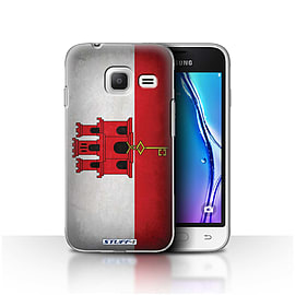 STUFF4 Case/Cover for Samsung Galaxy J1 Nxt/Mini / Gibraltar/Gibraltarian Design / Flags Collection Mobile phones