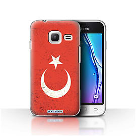 STUFF4 Case/Cover for Samsung Galaxy J1 Nxt/Mini / Turkey/Turkish Design / Flags Collection Mobile phones