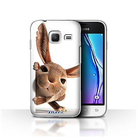 STUFF4 Case/Cover for Samsung Galaxy J1 Nxt/Mini / Peeking Bunny Design / Funny Animals Collection Mobile phones