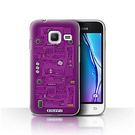 STUFF4 Case/Cover for Samsung Galaxy J1 Nxt/Mini / Purple Design / Circuit Board Collection Mobile phones