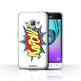 STUFF4 Case/Cover for Samsung Galaxy J1 2016 / Kapow! Design / Comics/Cartoon Words Collection Mobile phones