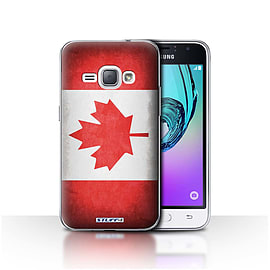 STUFF4 Case/Cover for Samsung Galaxy J1 2016 / Canada/Canadian Design / Flags Collection Mobile phones
