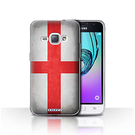 STUFF4 Case/Cover for Samsung Galaxy J1 2016 / England/English Design / Flags Collection Mobile phones