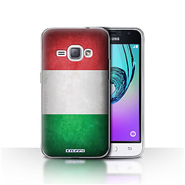 STUFF4 Case/Cover for Samsung Galaxy J1 2016 / Italy/Italian Design / Flags Collection Mobile phones