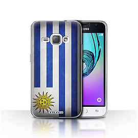 STUFF4 Case/Cover for Samsung Galaxy J1 2016 / Uruguay/Uruguayan Design / Flags Collection Mobile phones