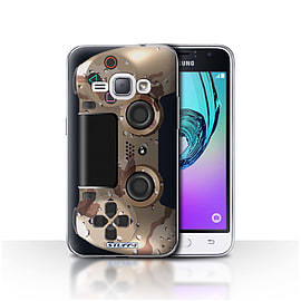 STUFF4 Case/Cover for Samsung Galaxy J1 2016 / Desert Camouflage Design / Playstation PS4 Collection Mobile phones