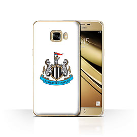 Newcastle United FC Case/Cover for Samsung Galaxy C7/Colour/White Design/NUFC Football Crest Mobile phones