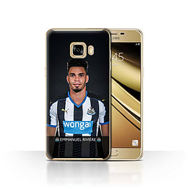 Newcastle United FC Case/Cover for Samsung Galaxy C7/Rivi?re Design/NUFC Football Player 15/16 Mobile phones