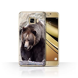 STUFF4 Case/Cover for Samsung Galaxy C7 / Bear Design / Wildlife Animals Collection Mobile phones