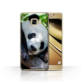 STUFF4 Case/Cover for Samsung Galaxy C7 / Panda Bear Design / Wildlife Animals Collection Mobile phones