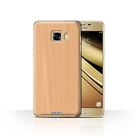 STUFF4 Case/Cover for Samsung Galaxy C7 / Beech Design / Wood Grain Effect/Pattern Collection Mobile phones