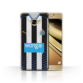 Newcastle United FC Case/Cover for Samsung Galaxy C5/Footballer Design/NUFC Home Shirt/Kit 15/16 Mobile phones