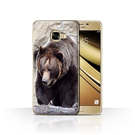 STUFF4 Case/Cover for Samsung Galaxy C5 / Bear Design / Wildlife Animals Collection Mobile phones