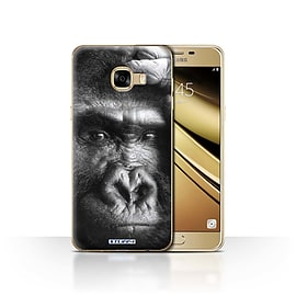 STUFF4 Case/Cover for Samsung Galaxy C5 / Gorilla/Monkey Design / Wildlife Animals Collection Mobile phones