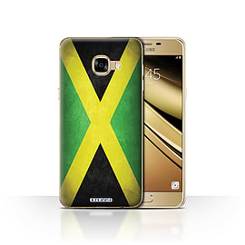 STUFF4 Case/Cover for Samsung Galaxy C5 / Jamaica/Jamaican Design / Flags Collection Mobile phones