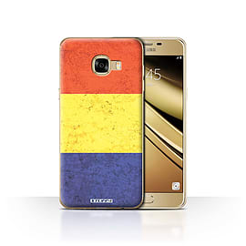 STUFF4 Case/Cover for Samsung Galaxy C5 / Romania/Romanian Design / Flags Collection Mobile phones