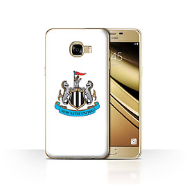 Newcastle United FC Case/Cover for Samsung Galaxy C5/Colour/White Design/NUFC Football Crest Mobile phones