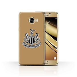 Official Newcastle United FC Case/Cover for Samsung Galaxy C5/Mono/Gold Design/NUFC Football Crest Mobile phones