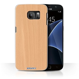 STUFF4 Case/Cover for Samsung Galaxy S7/G930 / Beech Design / Wood Grain Effect/Pattern Collection Mobile phones