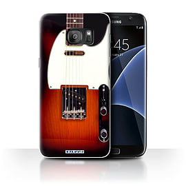 STUFF4 Case/Cover for Samsung Galaxy S7 Edge/G935 / Sunburst Electric Design / Guitar Collection Mobile phones