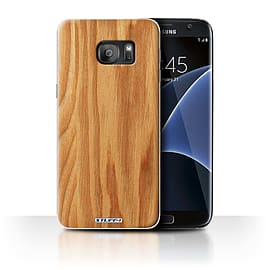 STUFF4 Case/Cover for Samsung Galaxy S7 Edge/G935/Oak Design/Wood Grain Effect/Pattern Mobile phones