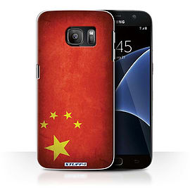 STUFF4 Case/Cover for Samsung Galaxy S7/G930 / China/Chinese Design / Flags Collection Mobile phones