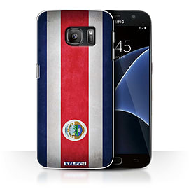 STUFF4 Case/Cover for Samsung Galaxy S7/G930 / Costa Rica/Rican Design / Flags Collection Mobile phones
