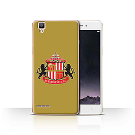 Official Sunderland AFC Case/Cover for Oppo F1 / Gold Design / SAFC Football Club Crest Collection Mobile phones