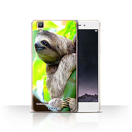 STUFF4 Case/Cover for Oppo F1 / Sloth Design / Wildlife Animals Collection Mobile phones