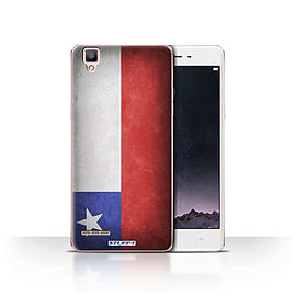 STUFF4 Case/Cover for Oppo F1 / Chile/Chiliean Design / Flags Collection Mobile phones