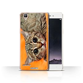 STUFF4 Case/Cover for Oppo F1 / Big Eye Cat Design / Funny Animals Collection Mobile phones