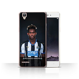 Official Newcastle United FC Case/Cover for Oppo F1/Aarons Design/NUFC Football Player 15/16 Mobile phones