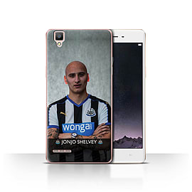 Official Newcastle United FC Case/Cover for Oppo F1/Shelvey Design/NUFC Football Player 15/16 Mobile phones