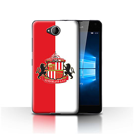 Official Sunderland AFC Case/Cover for Microsoft Lumia 650/Red/White Design/SAFC Football Club Crest Mobile phones