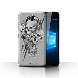 STUFF4 Case/Cover for Microsoft Lumia 650 / Three Design / Skull Art Sketch Collection Mobile phones